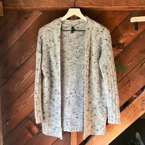 Speckled Wool-Blend Cardigan